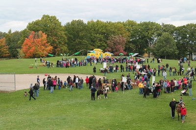 A group of people at Fall Fest at Marshbank Park