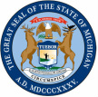 Logo of the seal of the State of Michigan