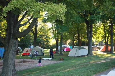 A group of tents set up at Marshbank Park