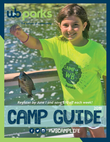 Cover page of the West Bloomfield Parks camp guide